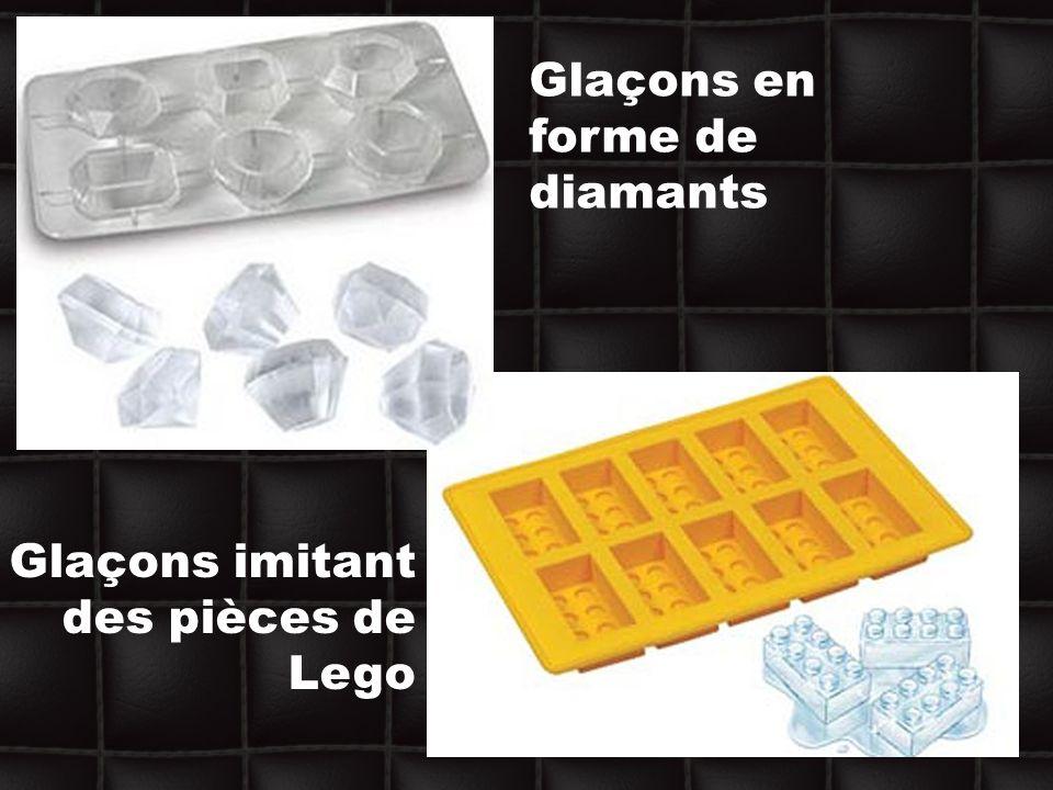Glaçons en forme de diamants