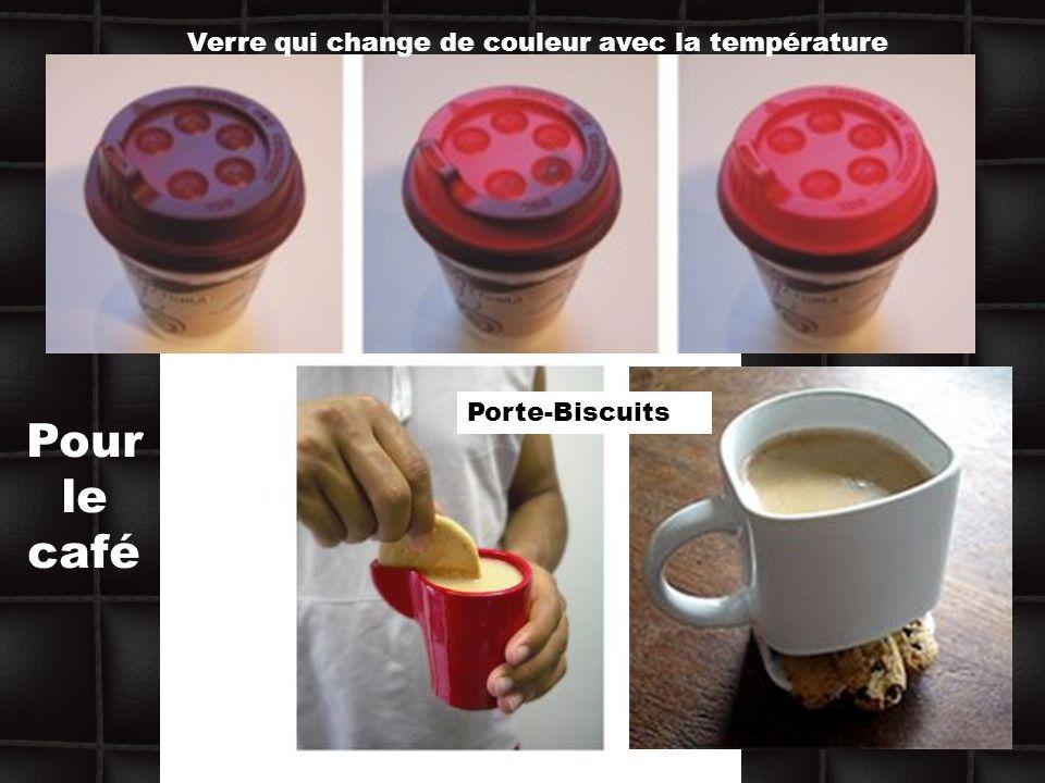 Pour le café Verre qui change de couleur avec la température