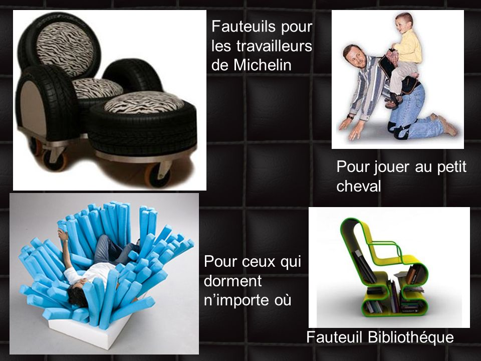 Fauteuils pour les travailleurs de Michelin