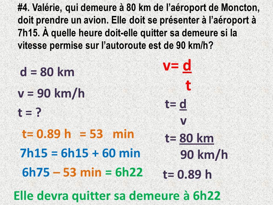 v= d t d = 80 km v = 90 km/h t= d v t = t= 0.89 h = 53 min t= 80 km