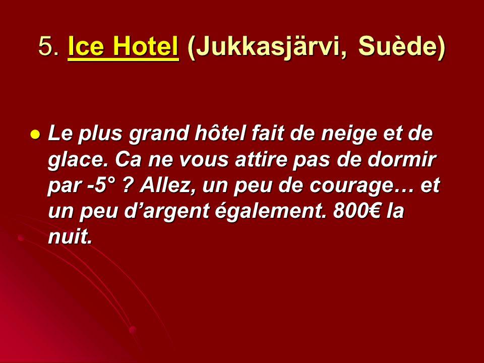 5. Ice Hotel (Jukkasjärvi, Suède)