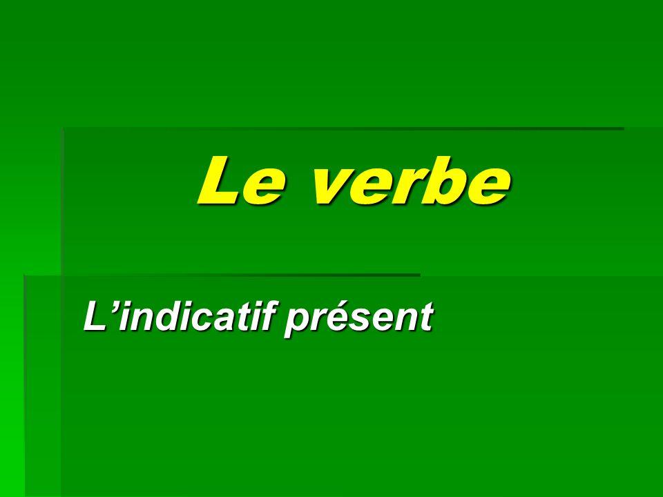 Le verbe L'indicatif présent