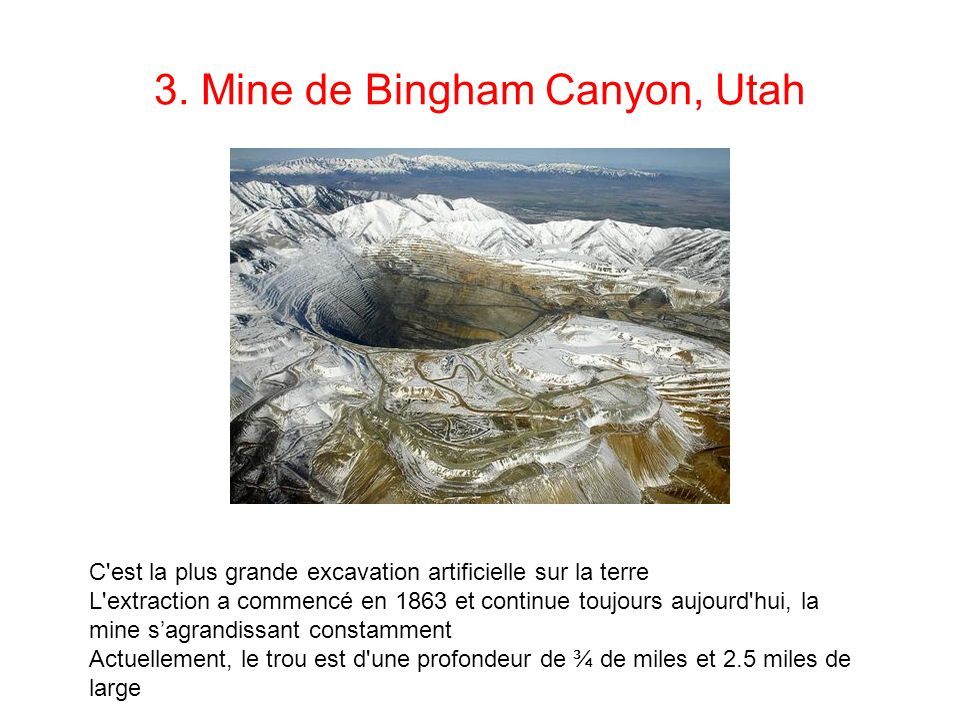 3. Mine de Bingham Canyon, Utah