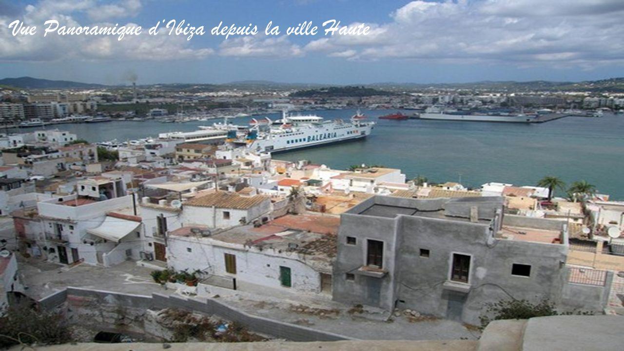 Vue Panoramique d'Ibiza depuis la ville Haute