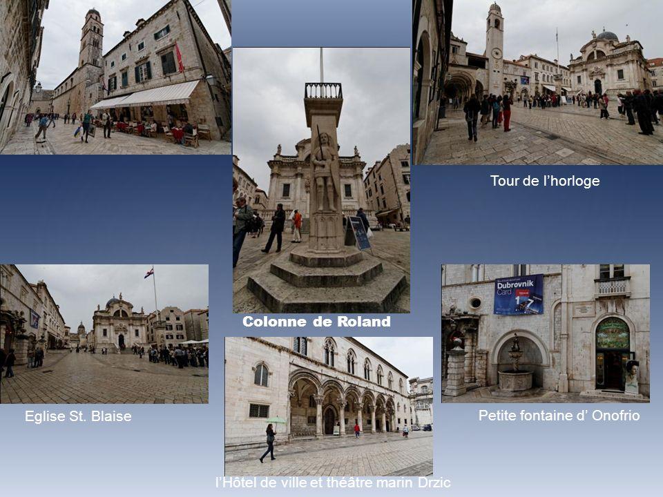Tour de l'horloge Colonne de Roland. Eglise St. Blaise.