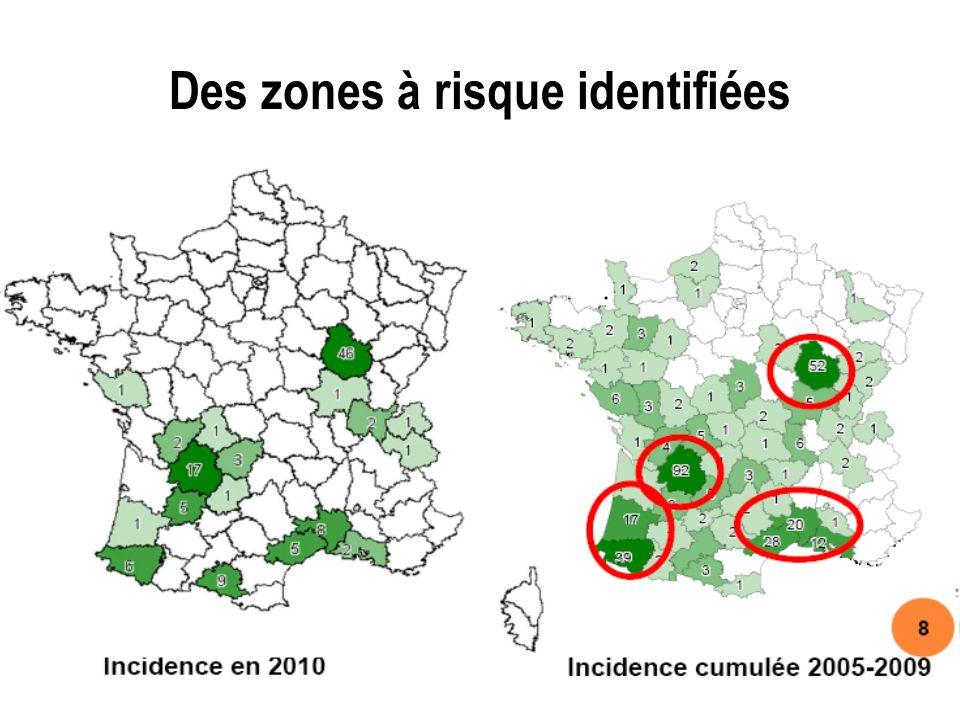 Des zones à risque identifiées
