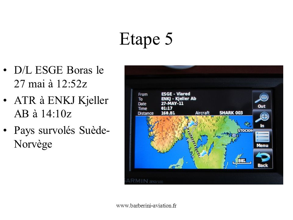 Etape 5 D/L ESGE Boras le 27 mai à 12:52z