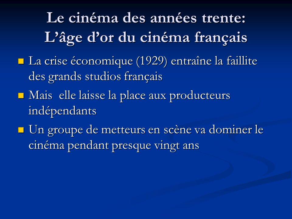 Le cinéma des années trente: L'âge d'or du cinéma français