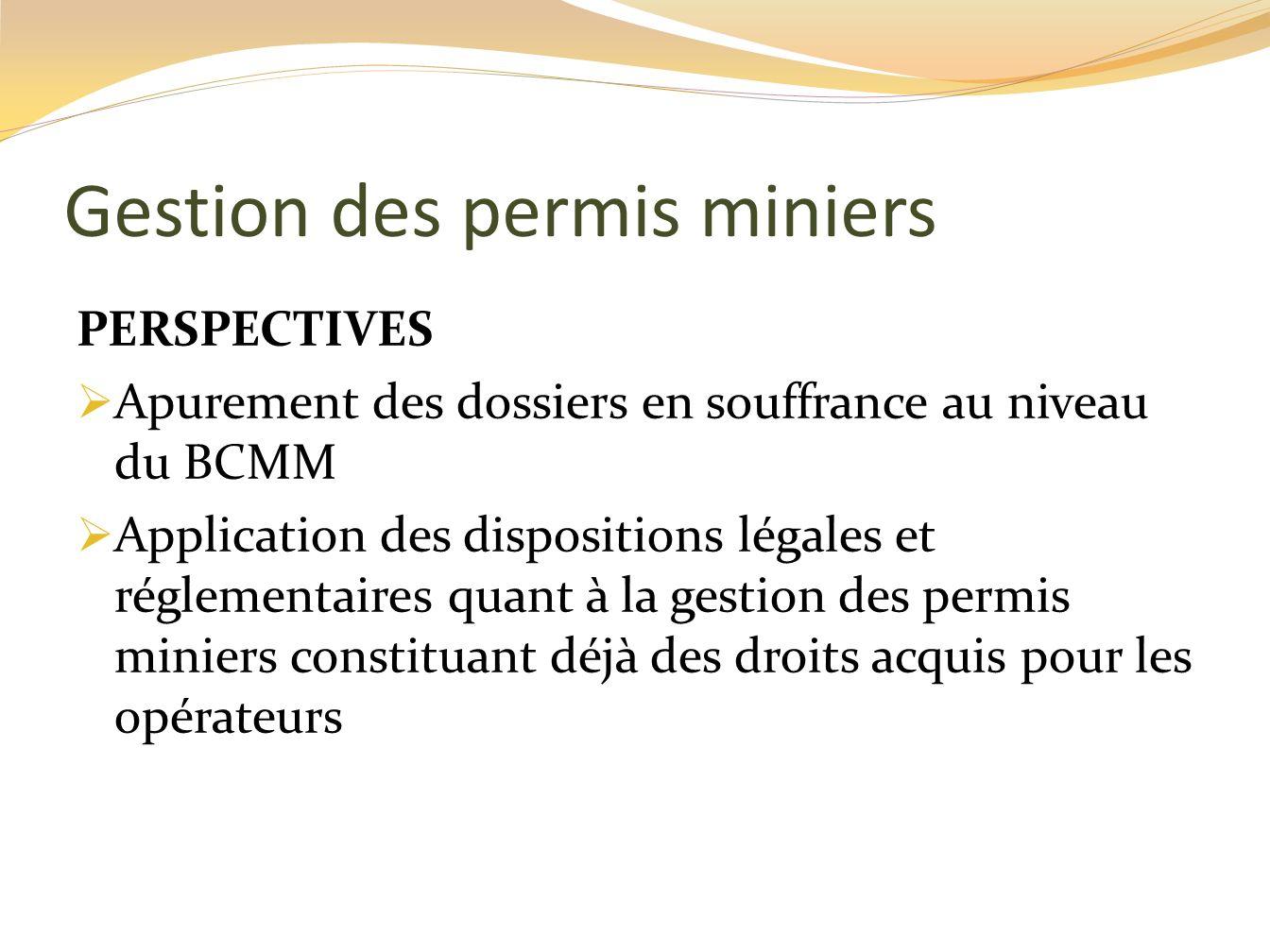 Gestion des permis miniers