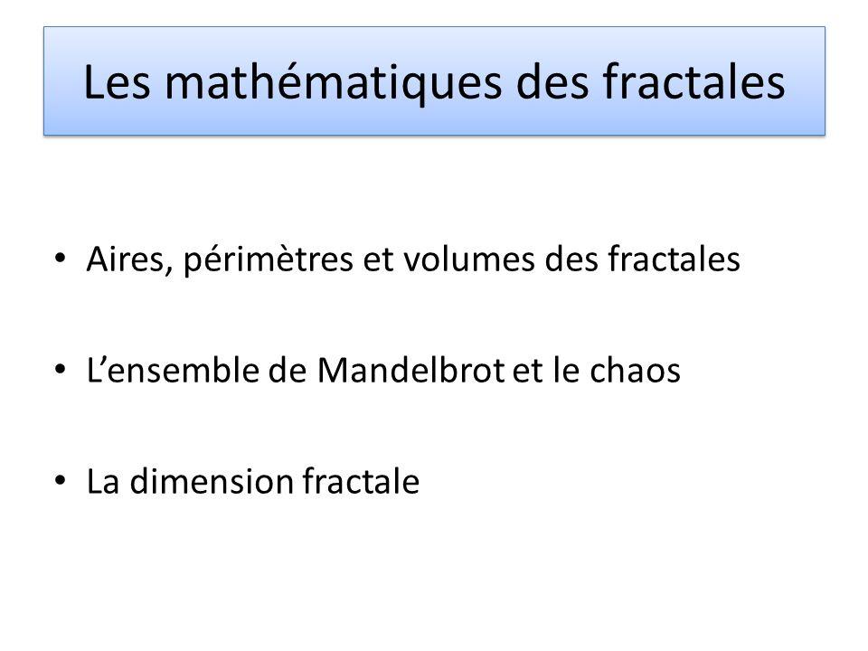 Les mathématiques des fractales