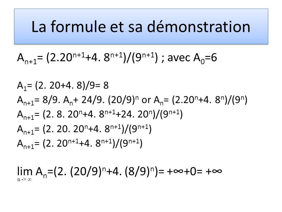 La formule et sa démonstration