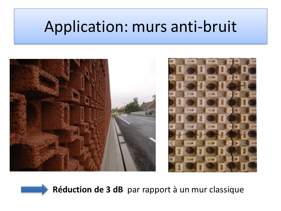 Application: murs anti-bruit