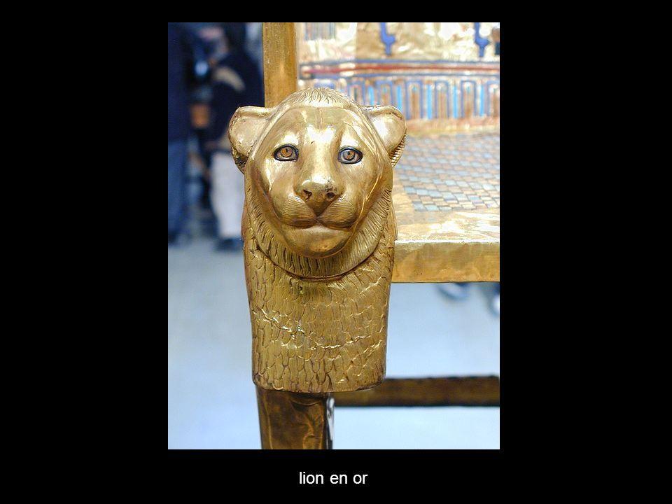 lion en or