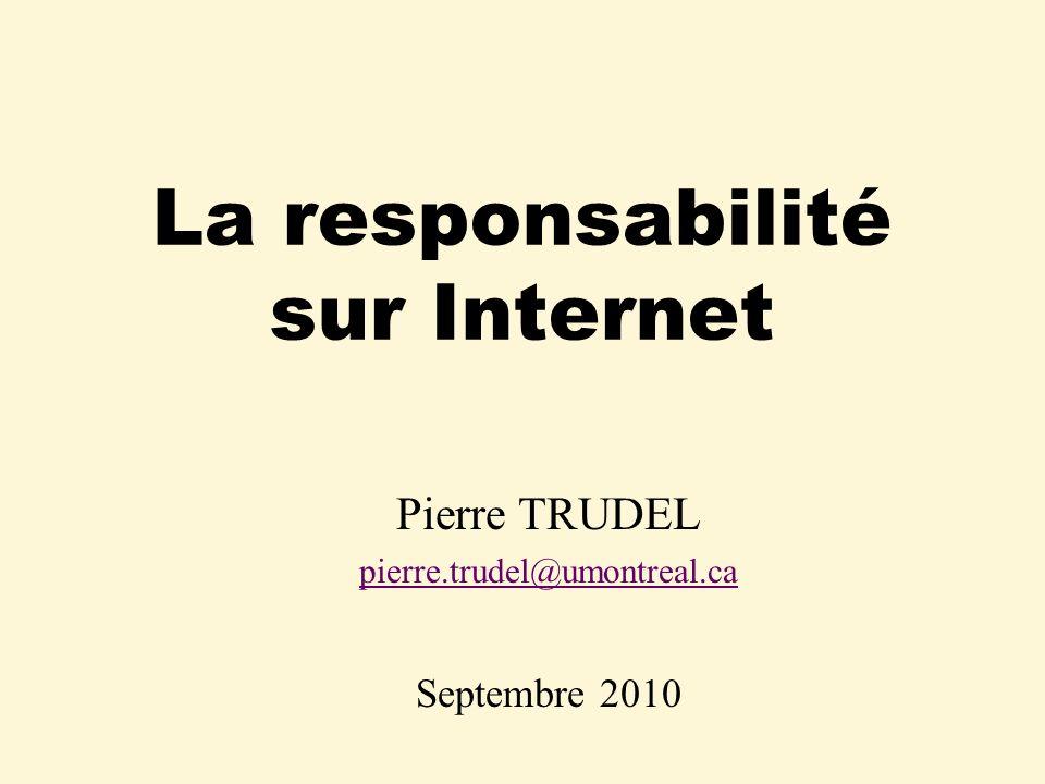 La responsabilité sur Internet