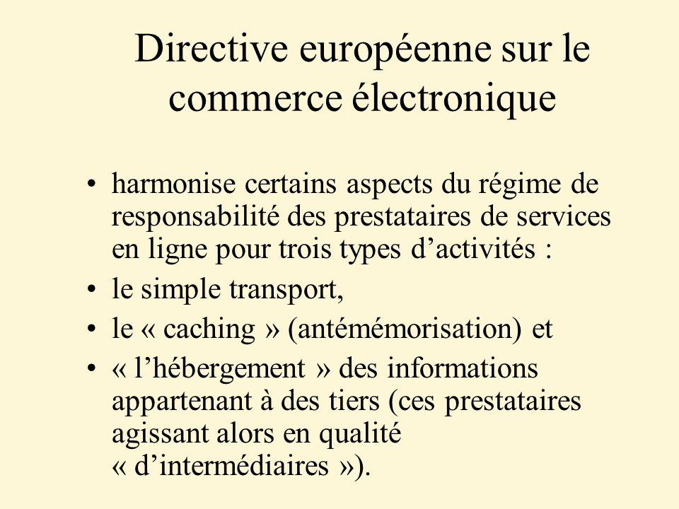 Directive européenne sur le commerce électronique