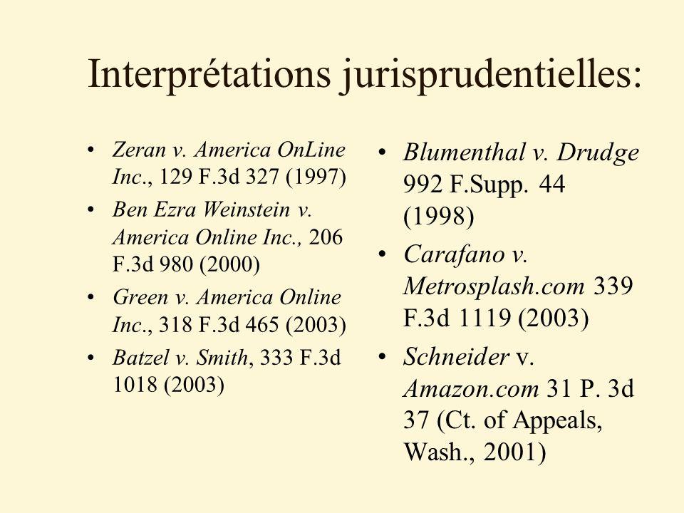 Interprétations jurisprudentielles: