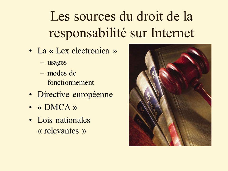 Les sources du droit de la responsabilité sur Internet