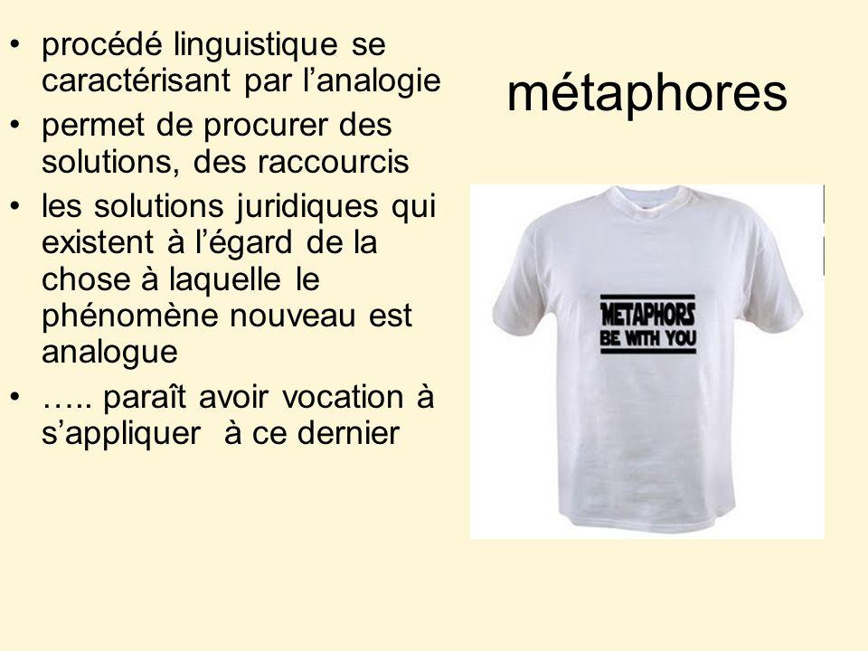 métaphores procédé linguistique se caractérisant par l'analogie