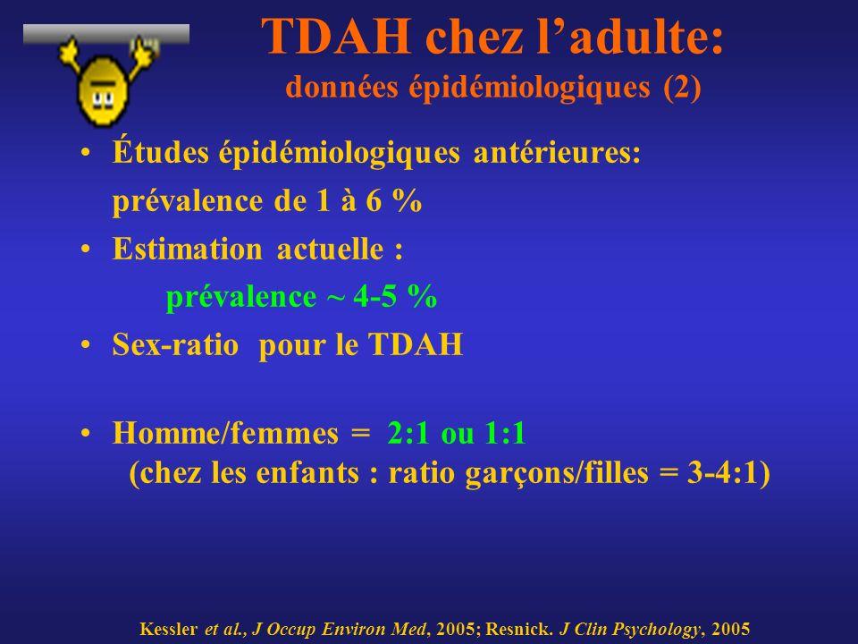 TDAH chez l'adulte: données épidémiologiques (2)