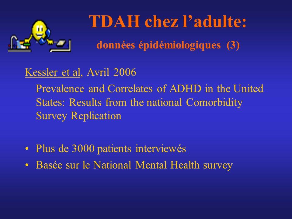 TDAH chez l'adulte: données épidémiologiques (3)