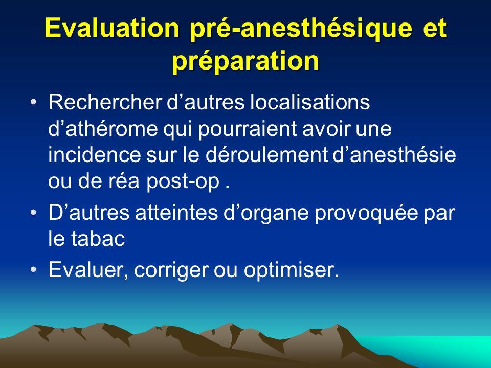 Evaluation pré-anesthésique et préparation