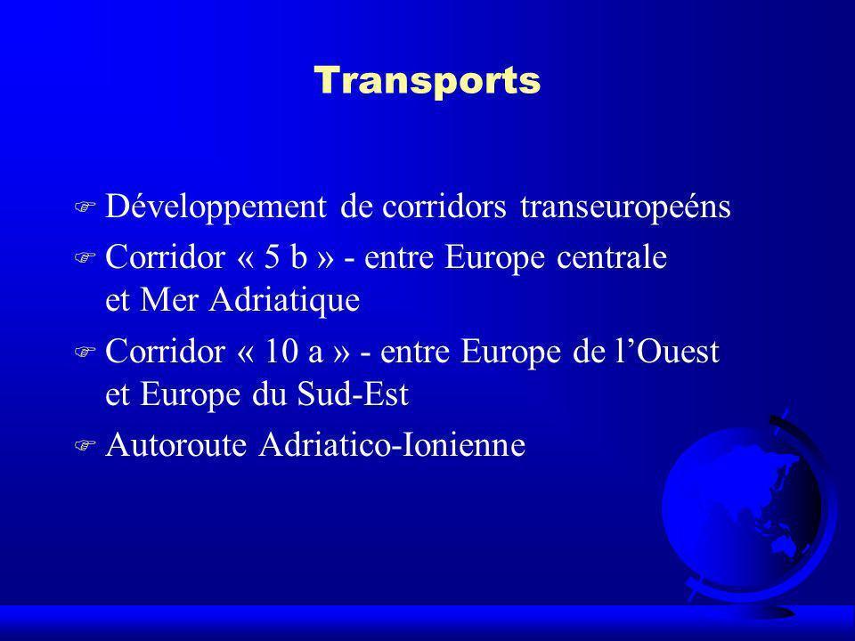 Transports Développement de corridors transeuropeéns