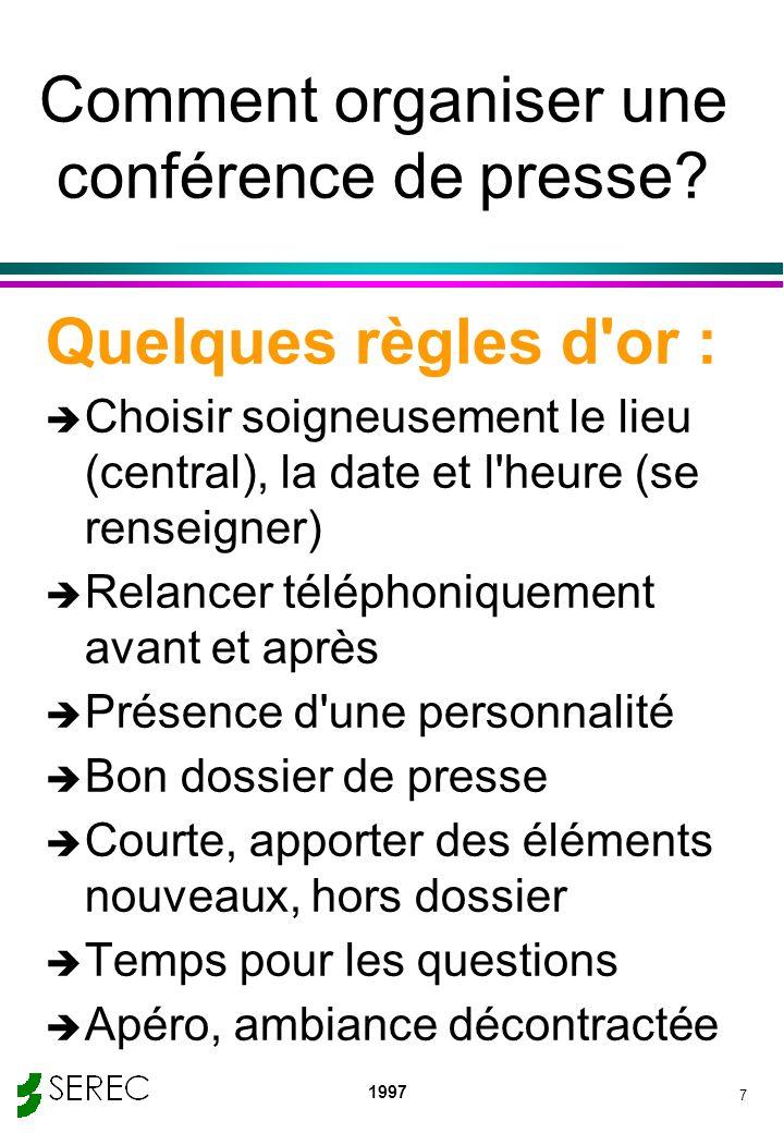Comment organiser une conférence de presse