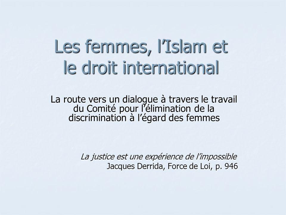 Les femmes, l'Islam et le droit international