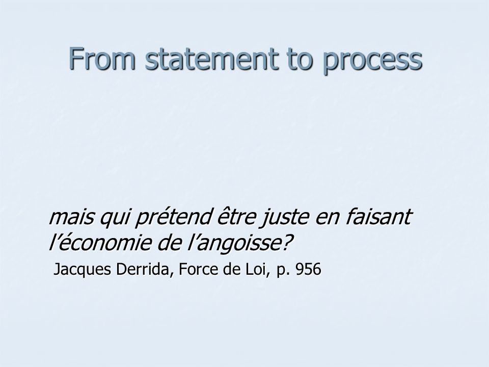 From statement to process