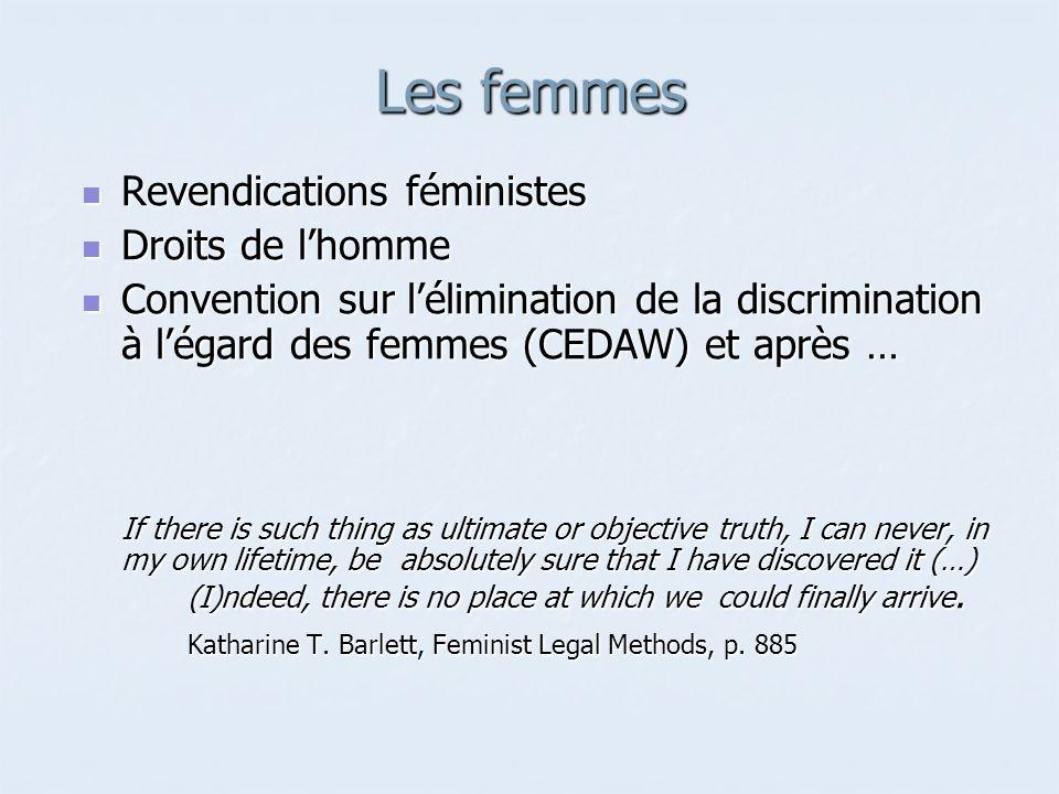 Les femmes Revendications féministes Droits de l'homme