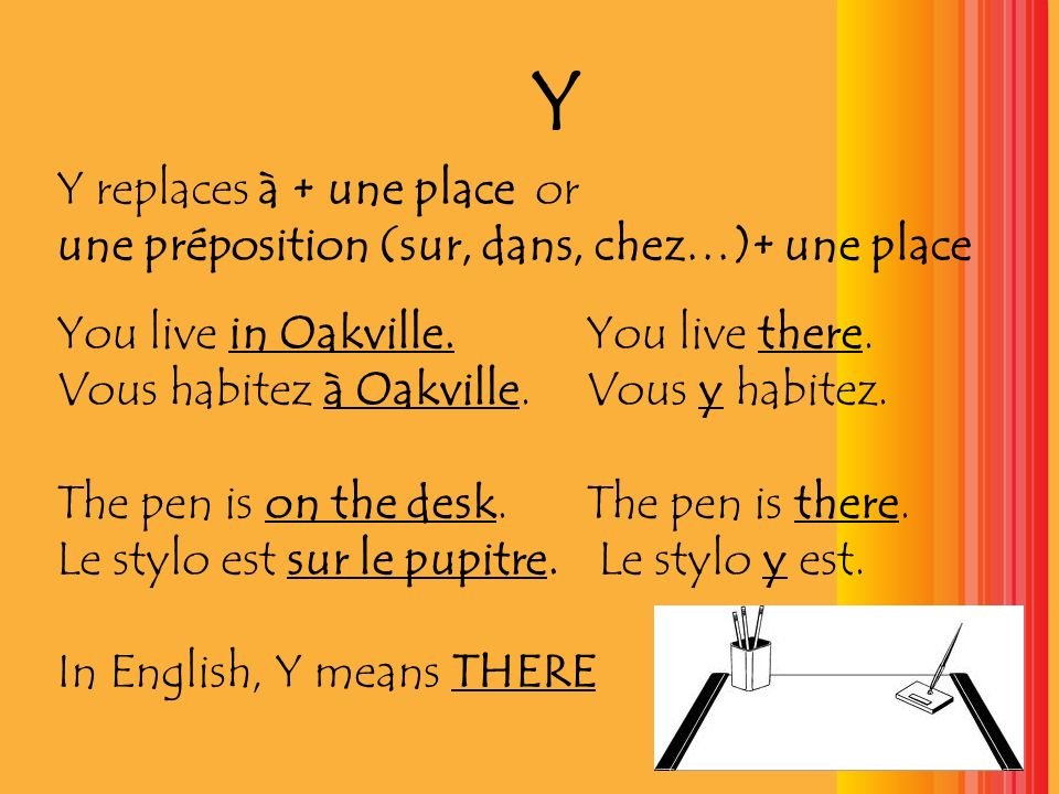 Y Y replaces à + une place or