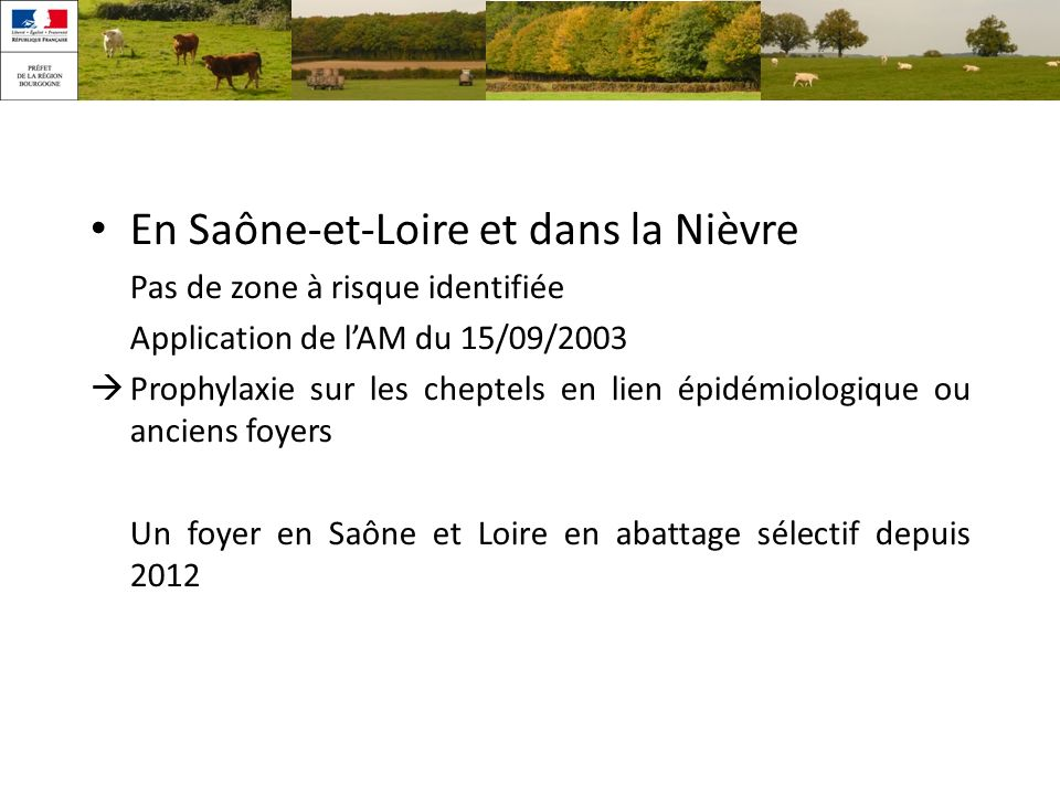 En Saône-et-Loire et dans la Nièvre