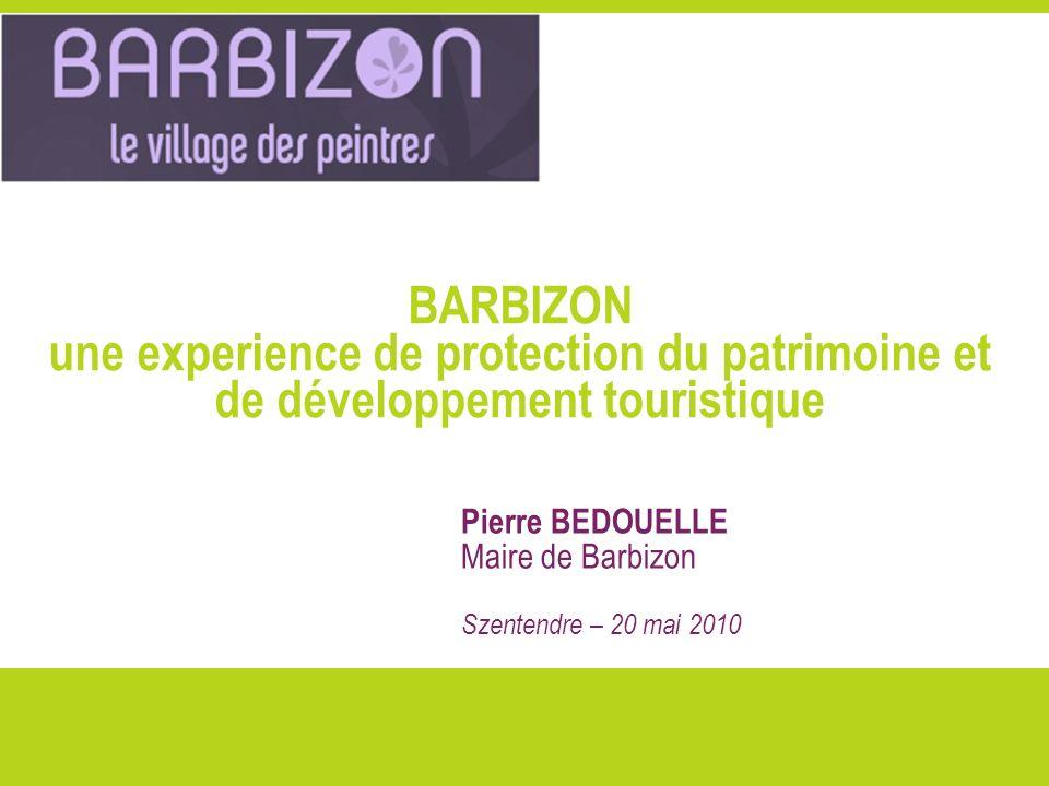 BARBIZON une experience de protection du patrimoine et de développement touristique