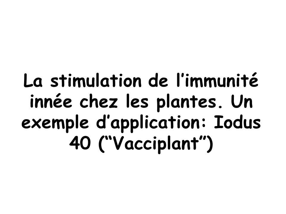 La stimulation de l'immunité innée chez les plantes