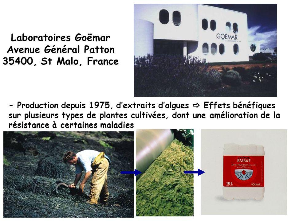 Laboratoires Goëmar Avenue Général Patton 35400, St Malo, France