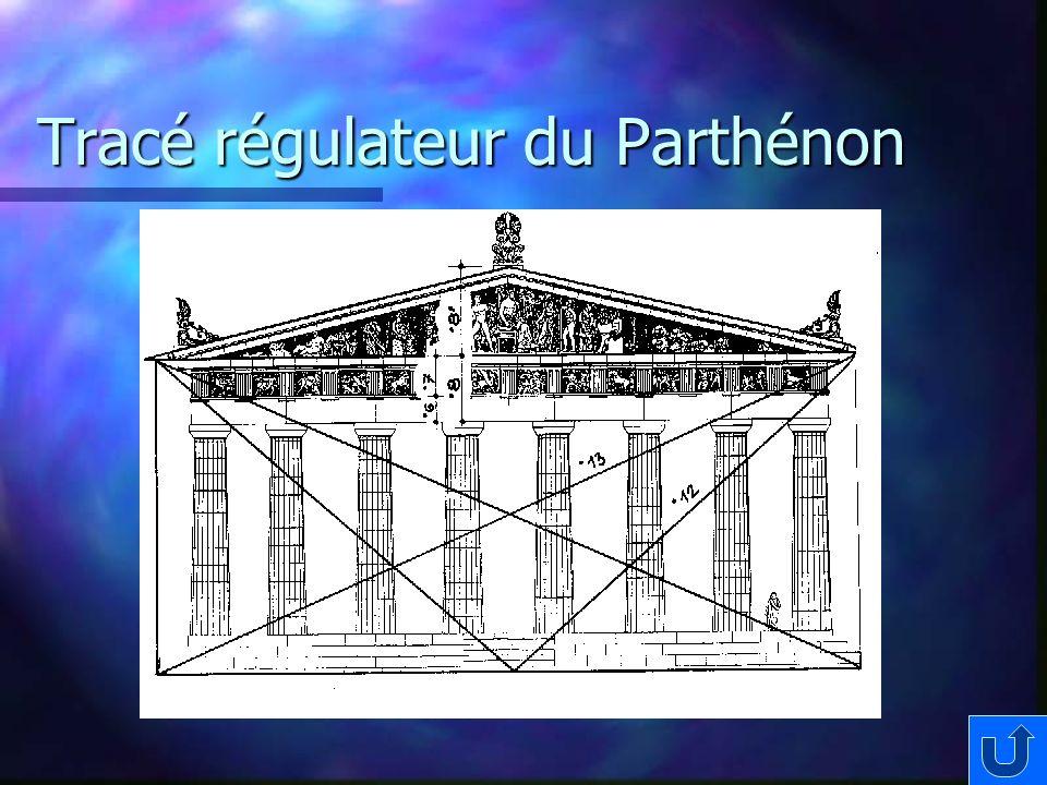 Tracé régulateur du Parthénon