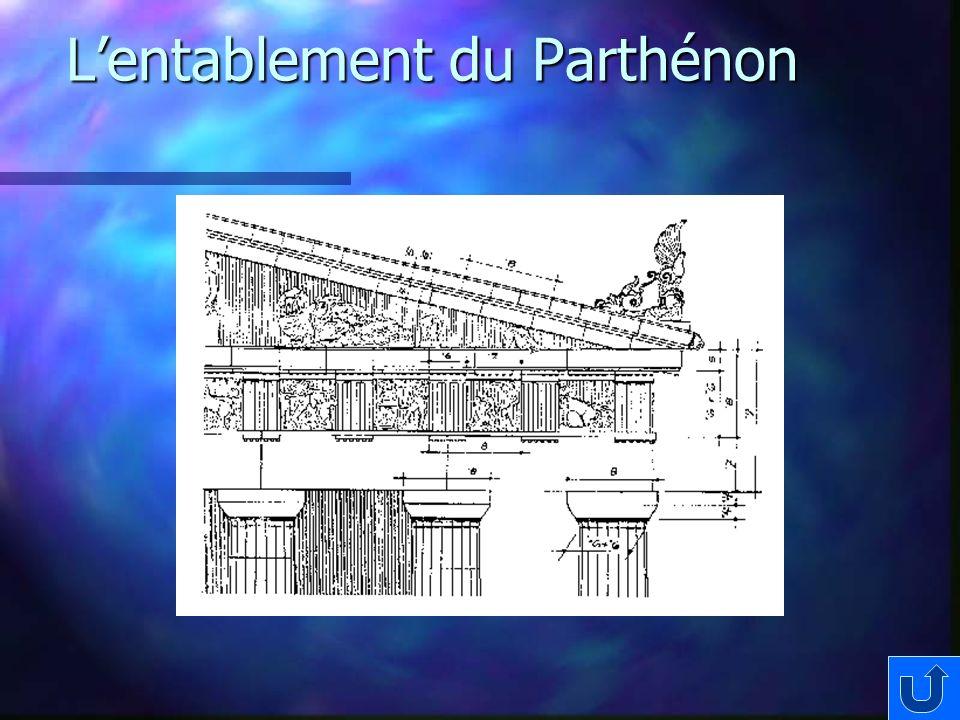 L'entablement du Parthénon