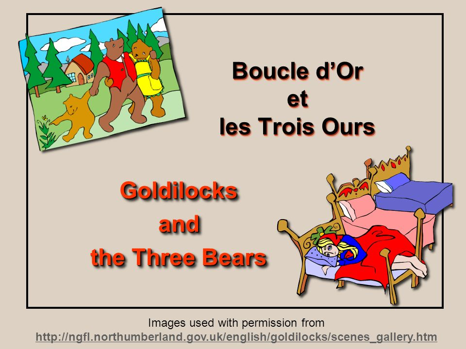 Boucle d'Or et les Trois Ours