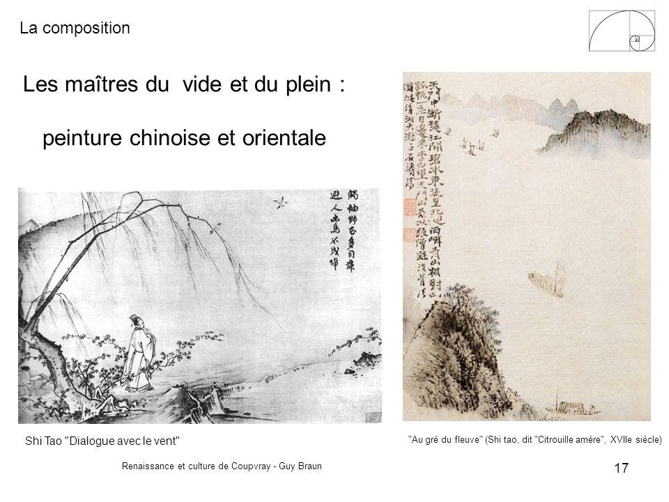 Les maîtres du vide et du plein : peinture chinoise et orientale