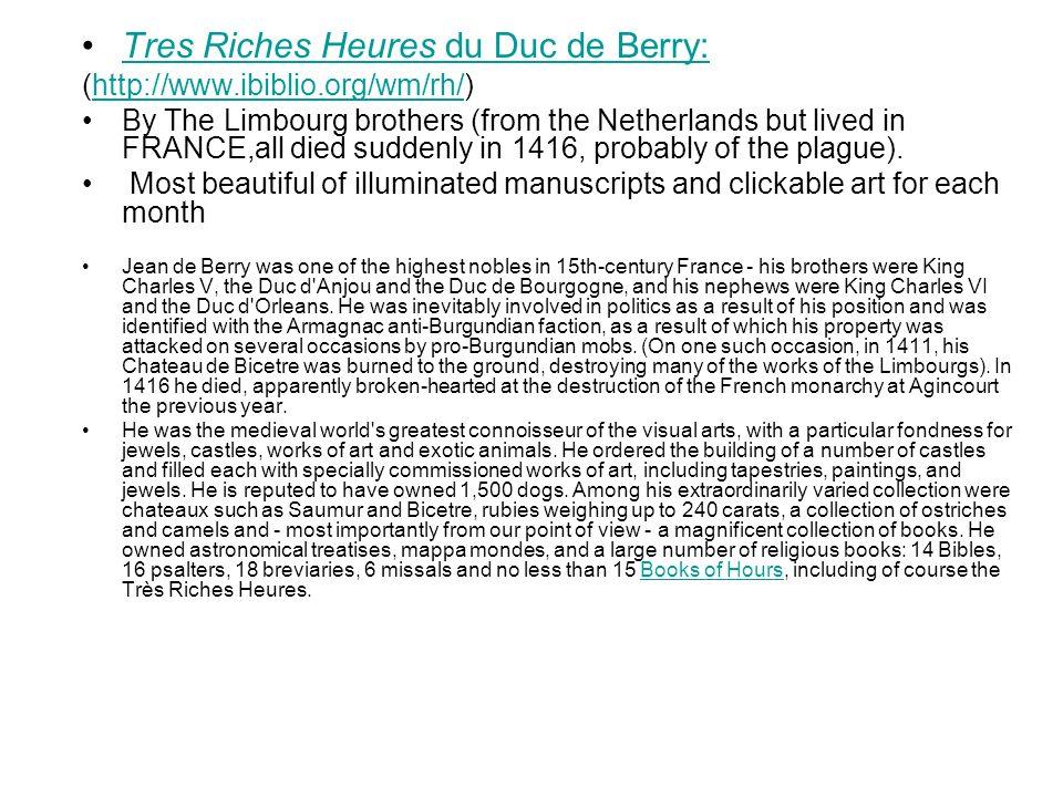 Tres Riches Heures du Duc de Berry: