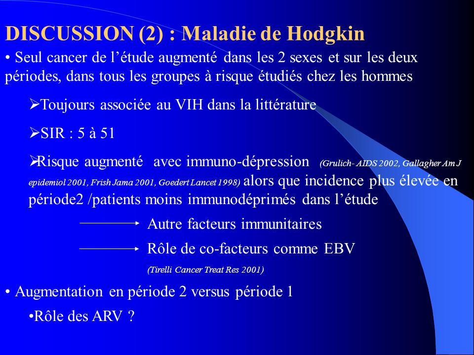 DISCUSSION (2) : Maladie de Hodgkin