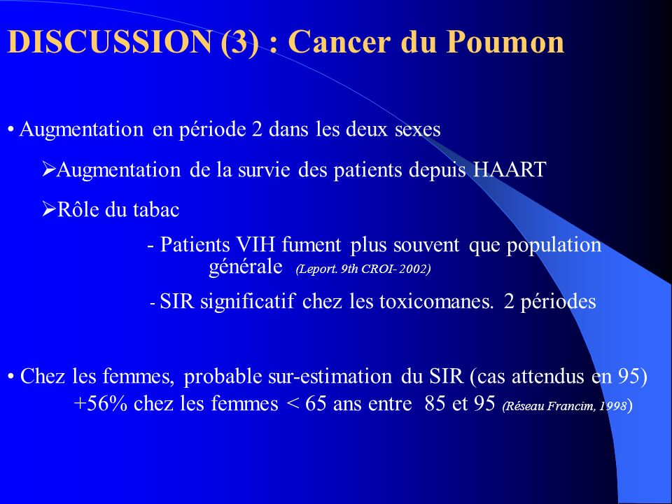 DISCUSSION (3) : Cancer du Poumon