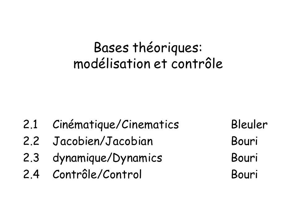 Bases théoriques: modélisation et contrôle