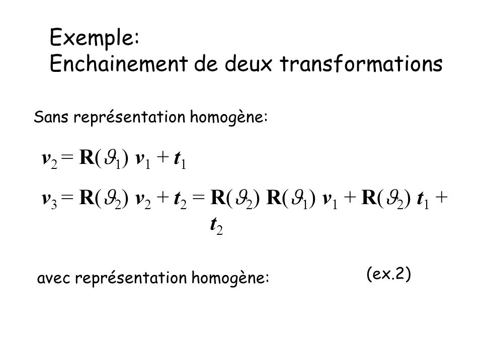Exemple: Enchainement de deux transformations