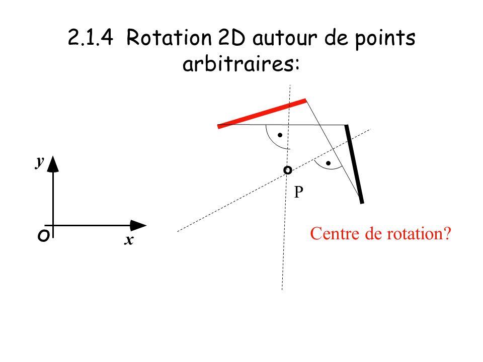 2.1.4 Rotation 2D autour de points arbitraires: