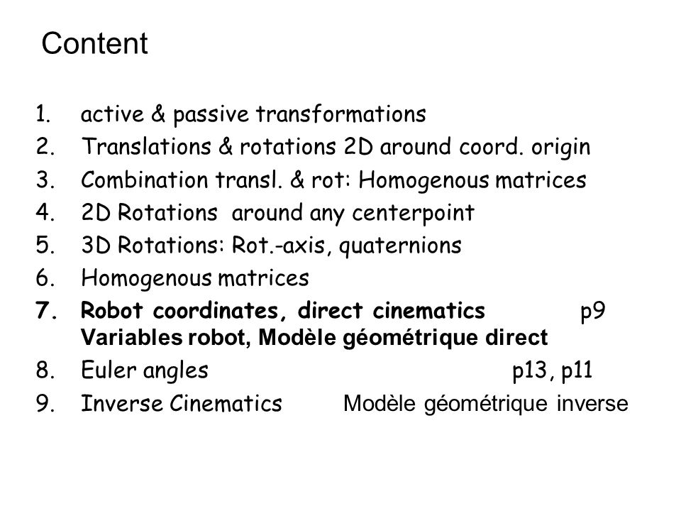 Content active & passive transformations