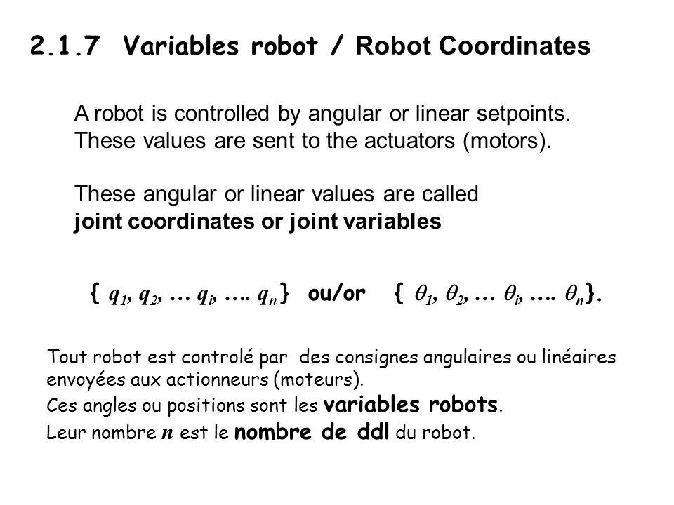2.1.7 Variables robot / Robot Coordinates