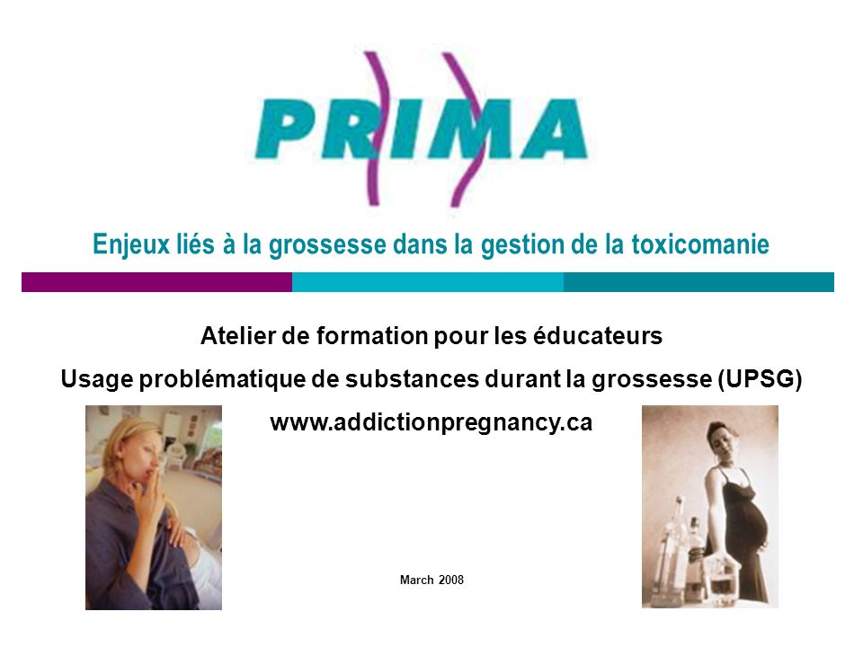 Enjeux liés à la grossesse dans la gestion de la toxicomanie