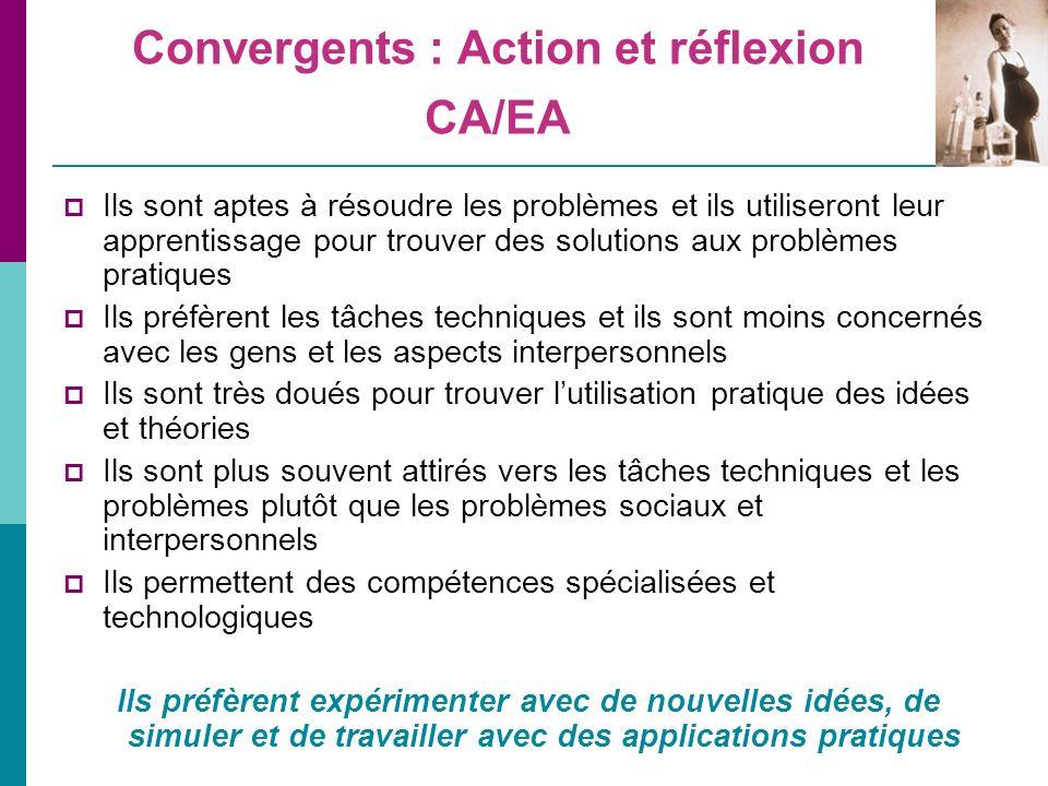 Convergents : Action et réflexion CA/EA