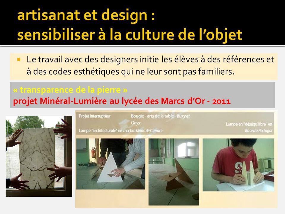 artisanat et design : sensibiliser à la culture de l'objet
